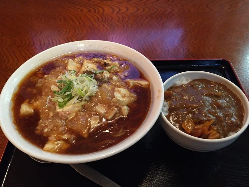 選べる定食屋 夢盛亭 麻婆麺&ミニカレー