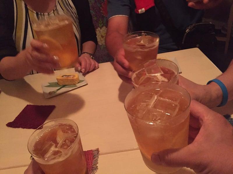 すいれん@盛岡市菜園 レモンヒート 乾杯