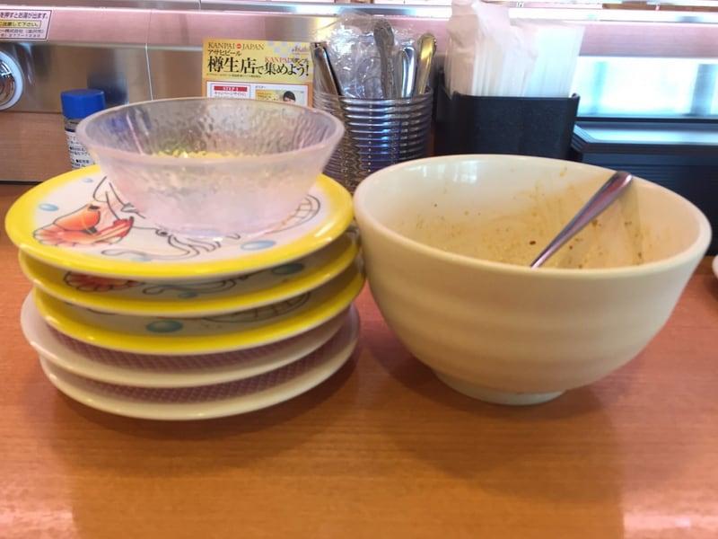 かっぱ寿司 秋田広面店にて寿司5皿&汁なし麻婆油そば&麻婆追いしゃり