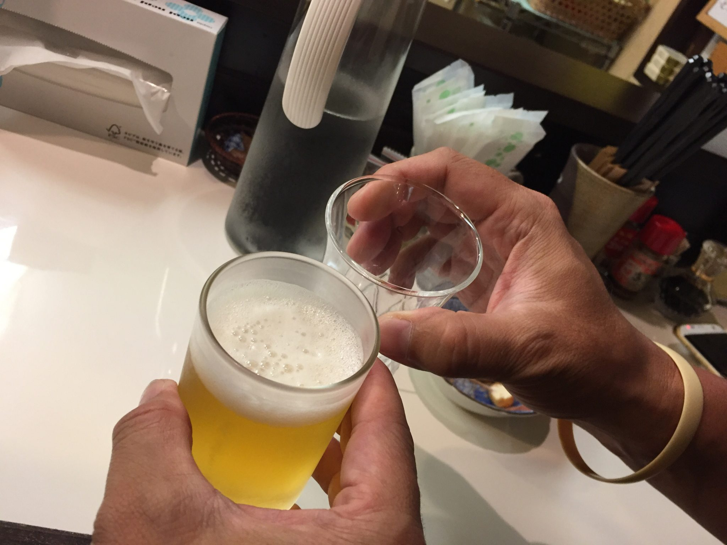もっきり要介 ビール 乾杯