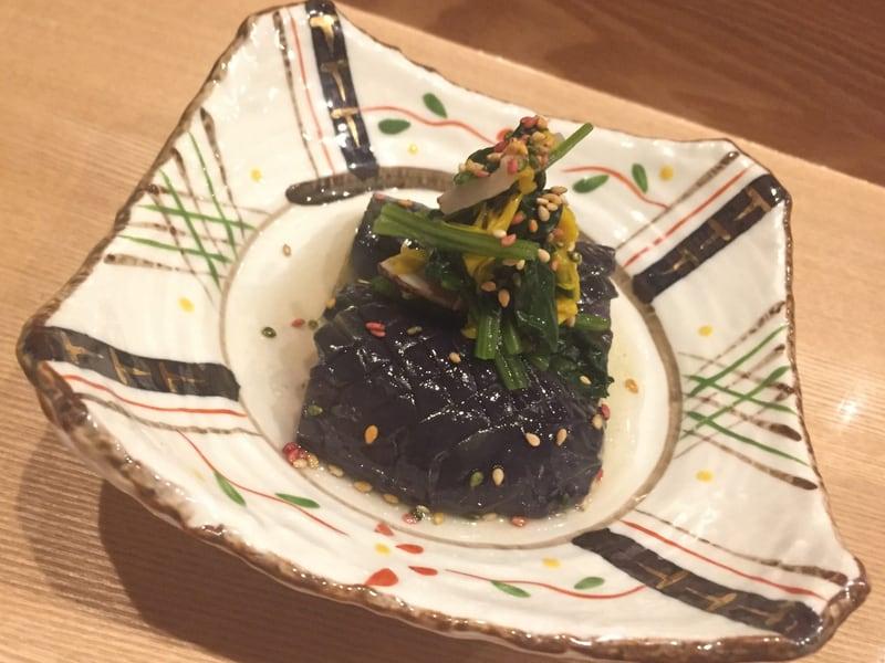 小料理 すず乃 茄子の揚げびたし 松茸のおひたしのせ