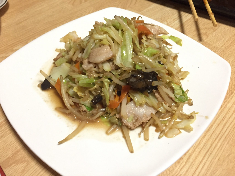 万松 野菜炒め