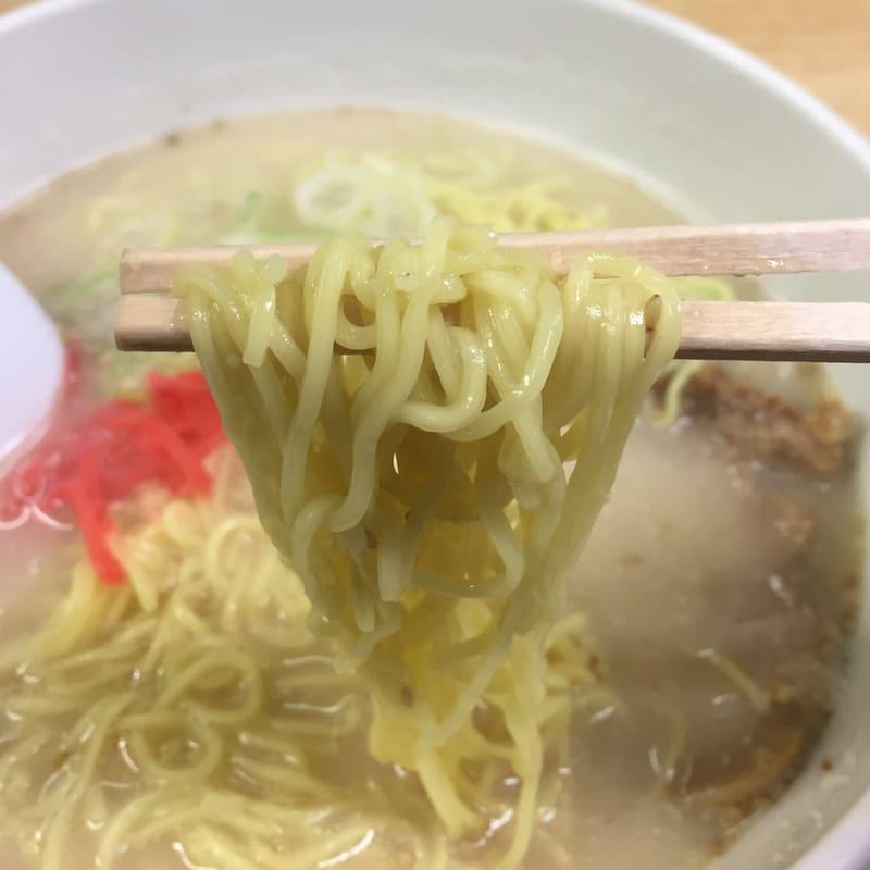 ラーメンショップ ぽん太 とんこつラーメン 麺