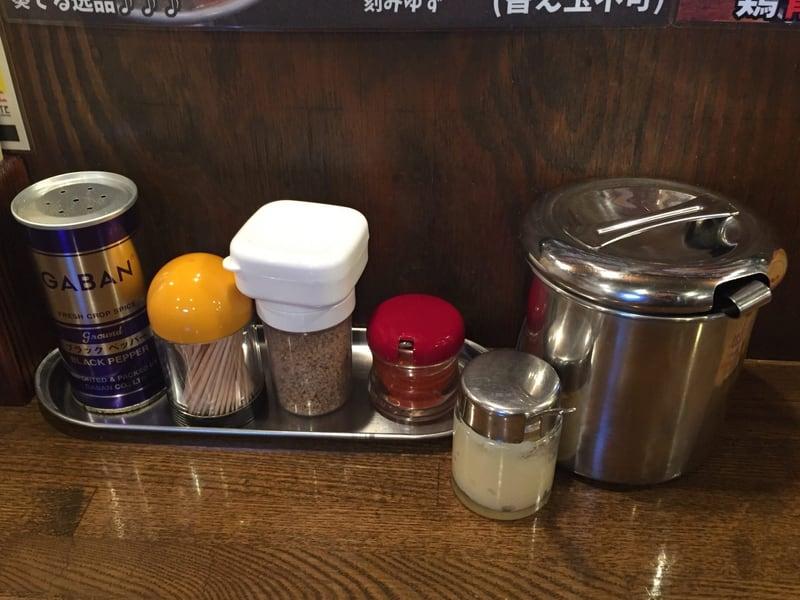 ラーメン男寿狼 鶏骨煮干つけ麺 味変 調味料