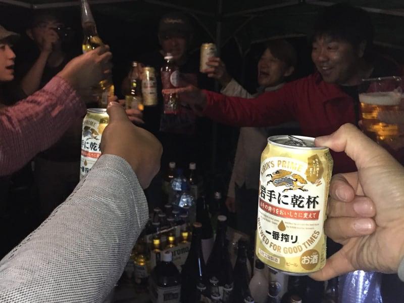 雫石 ひと雫の酒プロジェクト 2017年 稲刈り キャンプ BBQ