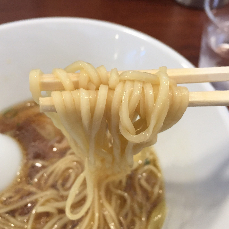 柳麺 多むら 外旭川店 鶏出汁醤油ラーメン 麺