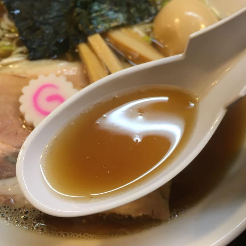 一球 昭和の中華そば スープ