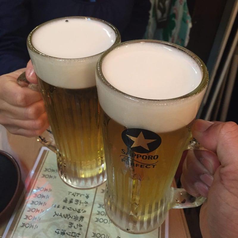 炭火焼まるや 恵比寿横丁店 乾杯