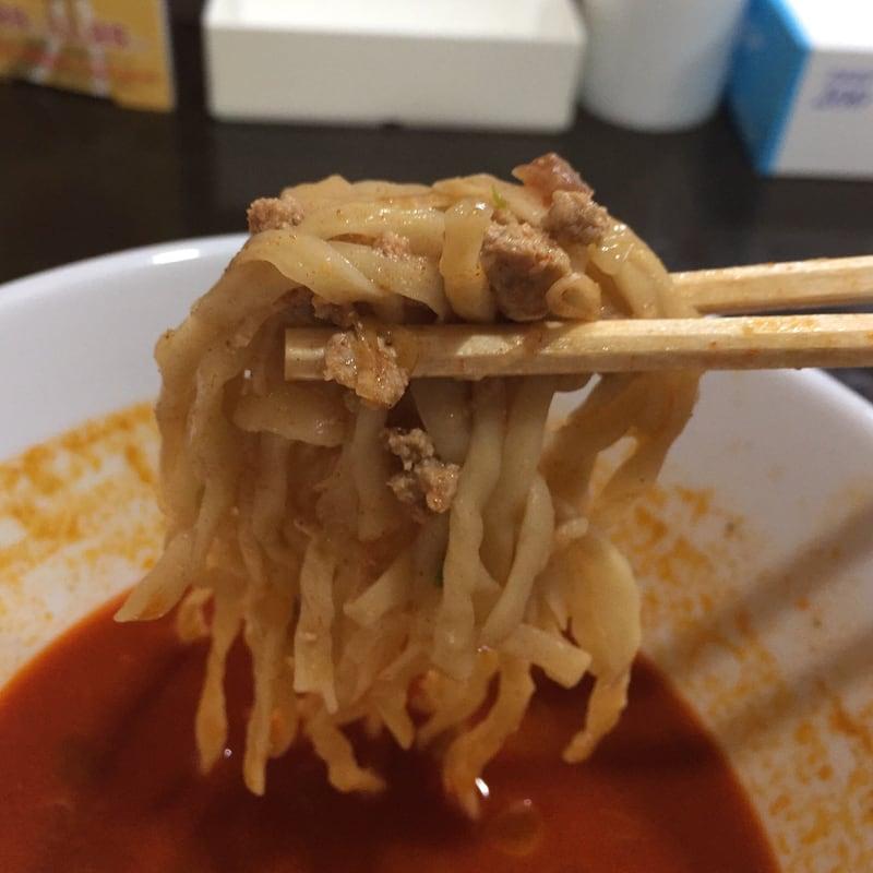 無化調ラーメン 麺屋theさとう みそ担々赤 麺