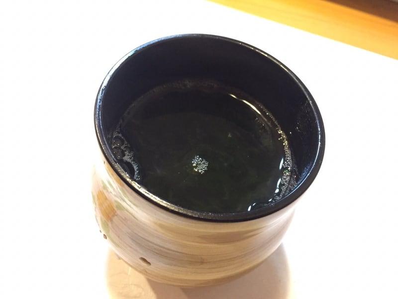 すし兆@秋田市中通 海苔の汁物