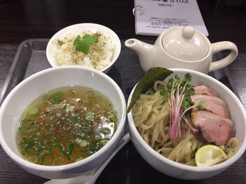 打ち立て中華そば 自家製麺5102 鴨塩つけ麺 お茶漬けセット