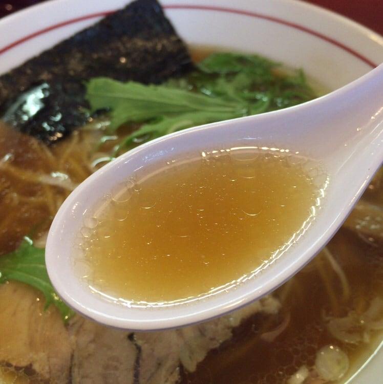 中華そば まるきの中華そば スープ