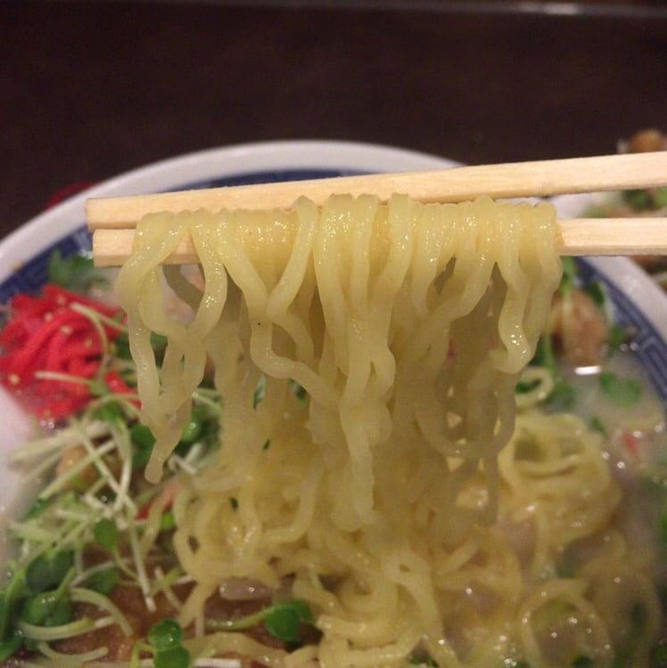 中華さくら@福島 モッコリ鶏カラらーめん 麺