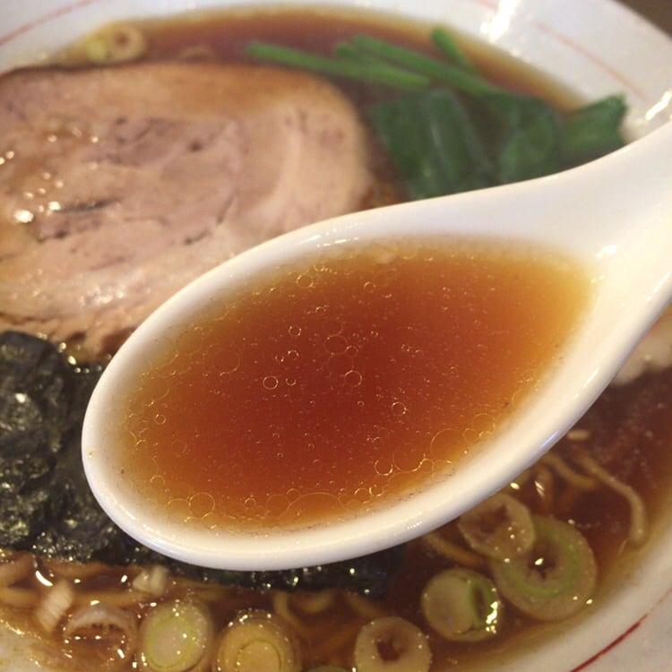かまや食堂 中華そば スープ