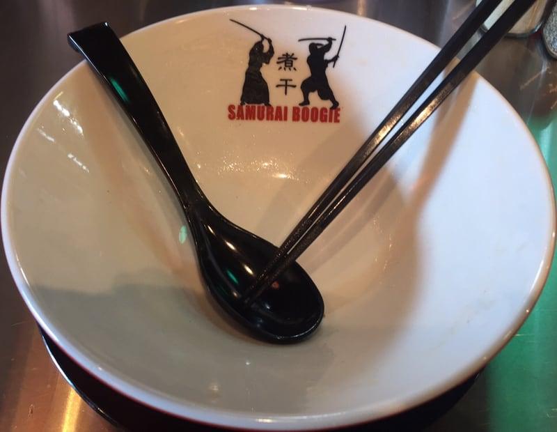 津軽煮干中華蕎麦 サムライブギーの津軽煮干中華蕎麦 完食