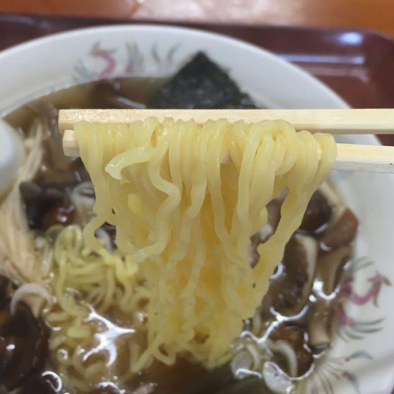 銀河食堂 きのこラーメン 麺