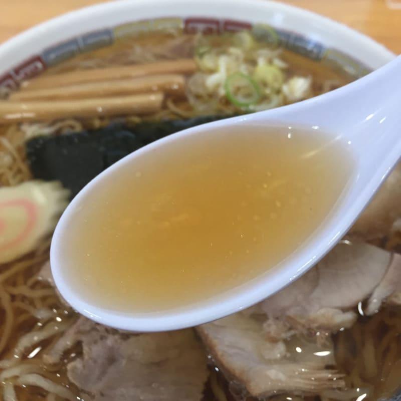 名代三角そばや 横手店 中華そば スープ