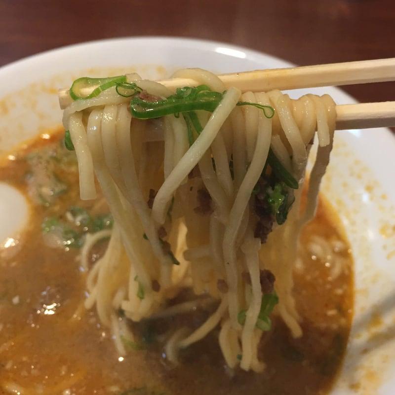 柳麺多むら 外旭川店 担担麺 麺