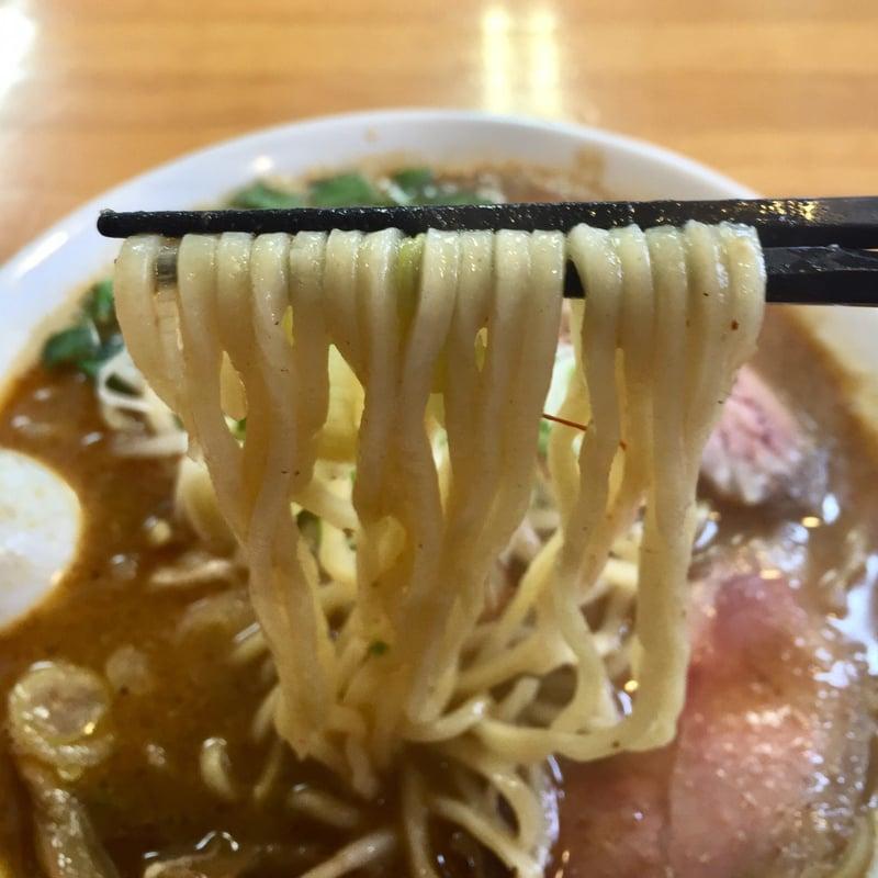 麺饗 松韻 冬の味噌ラーメン 麺