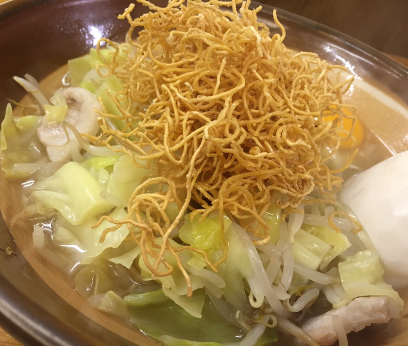 めしや@秋田市土崎 夜限定 めしやスペシャル 皿うどん 揚げ麺