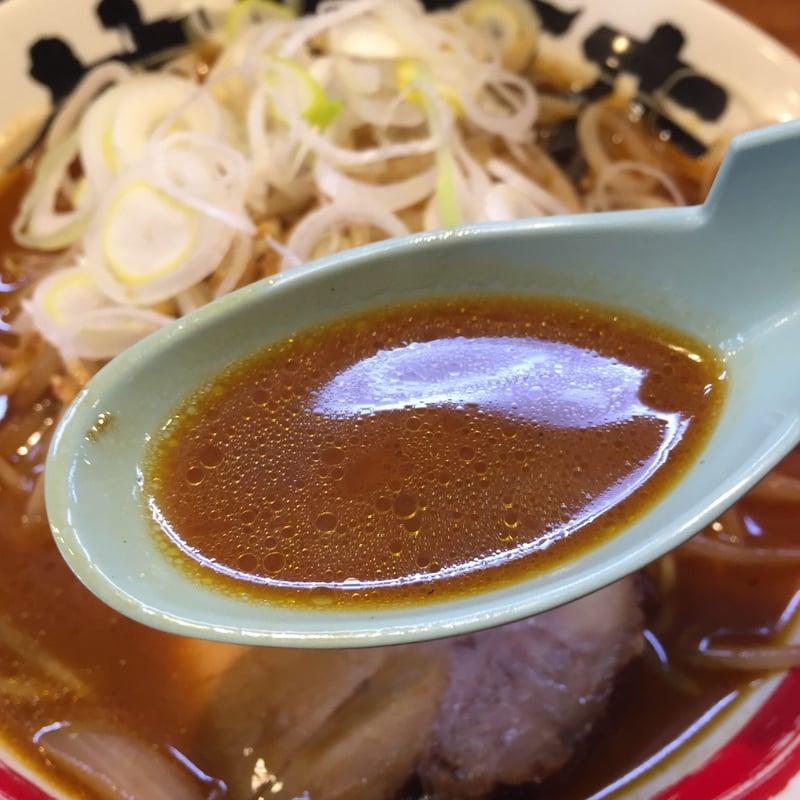 竹本商店 つけ麺開拓舎 土崎店 炎の焙煎醤油ラーメン スープ