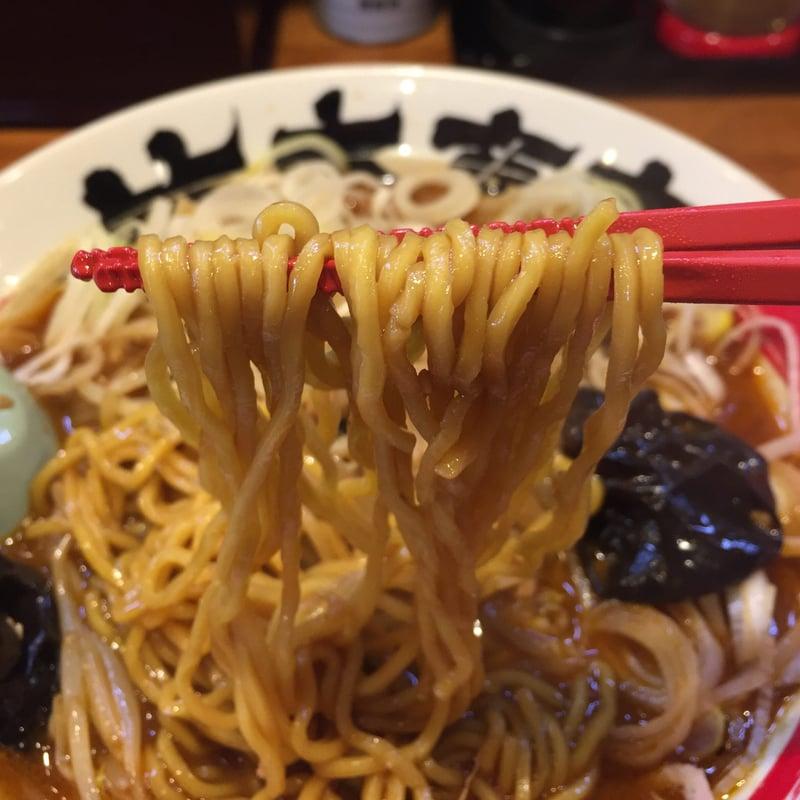 竹本商店 つけ麺開拓舎 土崎店 炎の焙煎醤油ラーメン 麺