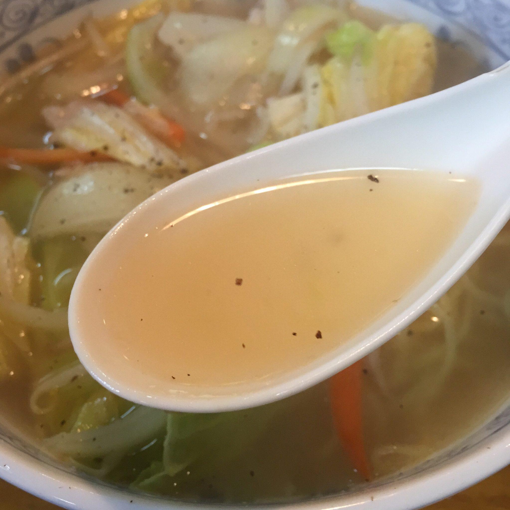 丸源食堂 塩タンメン スープ