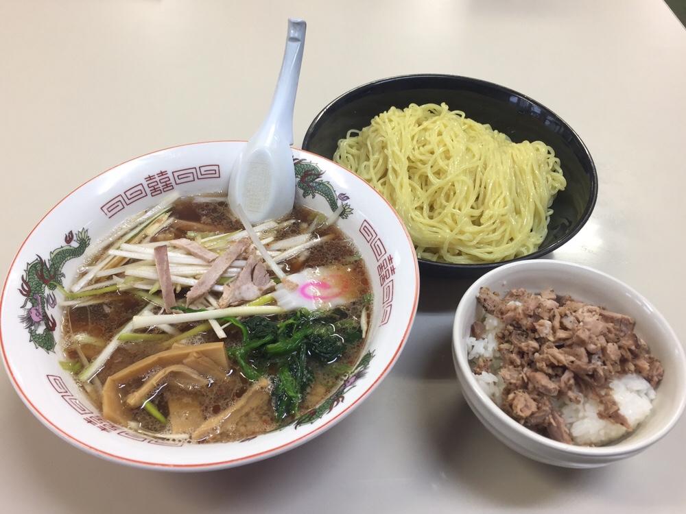 拉麺職人 満大 ネギつけ麺 チャーシューご飯