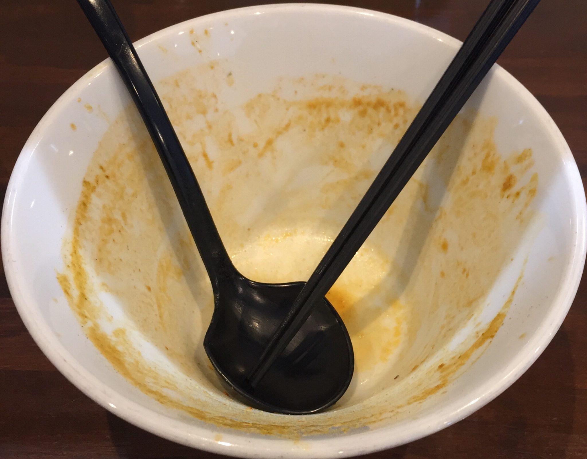 NOODLE SHOP KOUMITEI(香味亭) オマール海老香る濃厚ラーメン 濃厚味噌カレーヌードル 完食