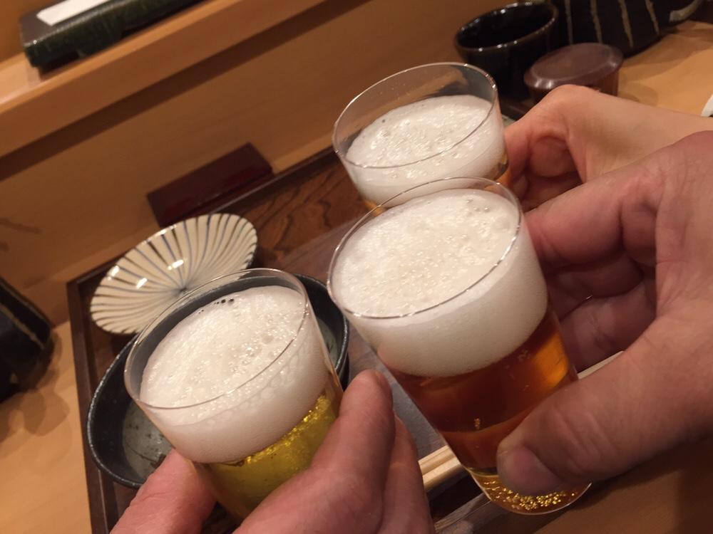 秋田 てんぷら みかわ 乾杯