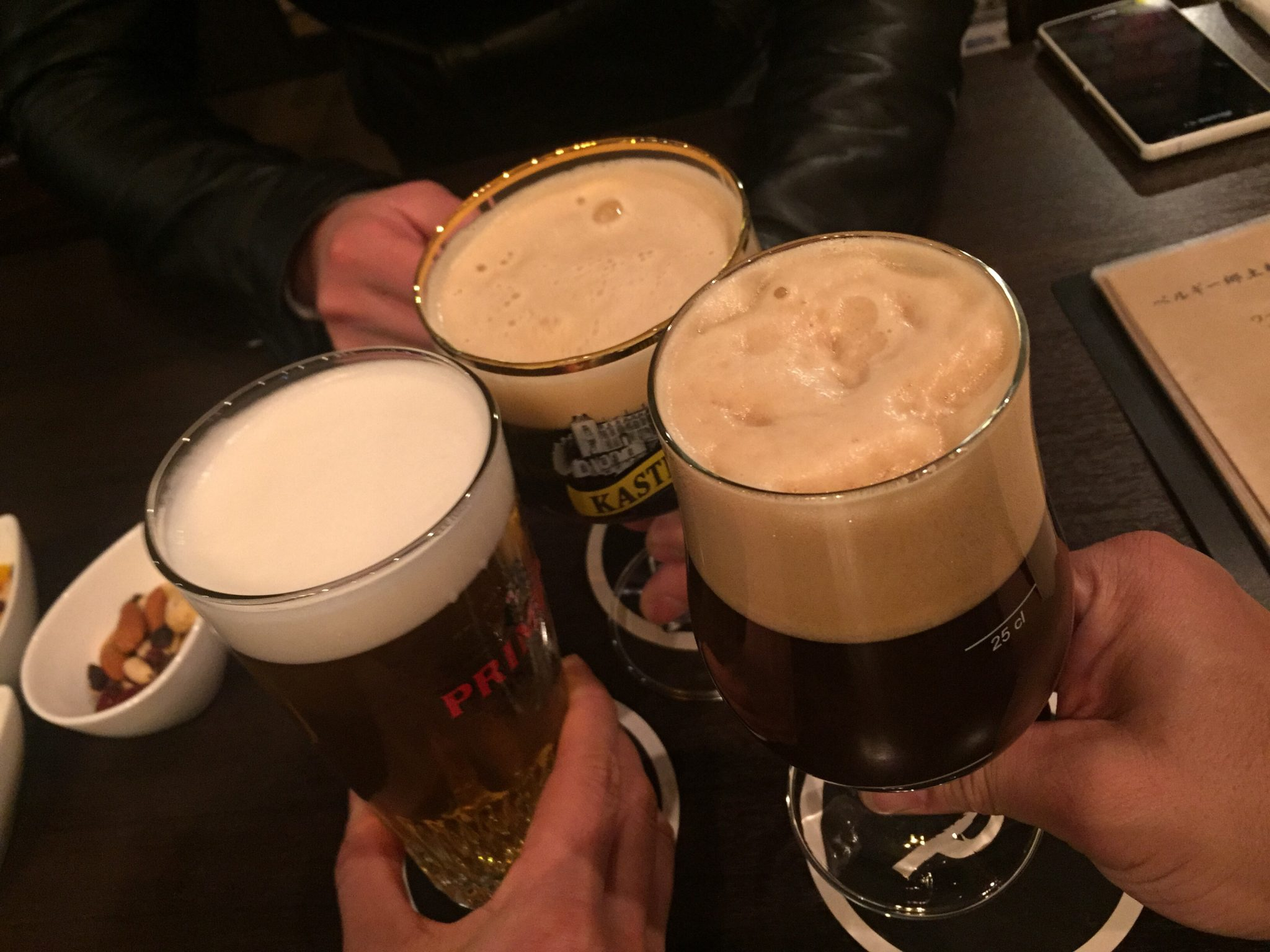Belgian Beer Bar ZOT(ベルジャンビアバー・ゾット) 乾杯