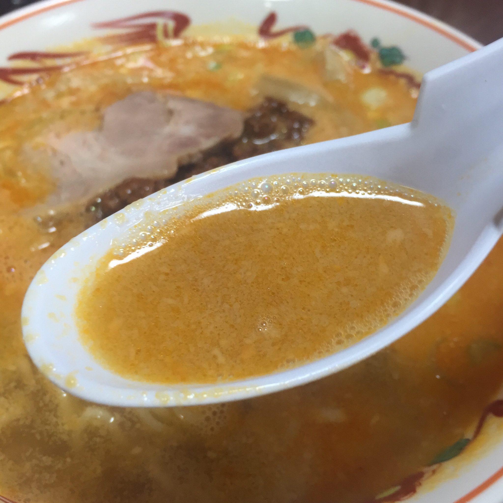 担々麺の店 福の家北店 担々麺 スープ
