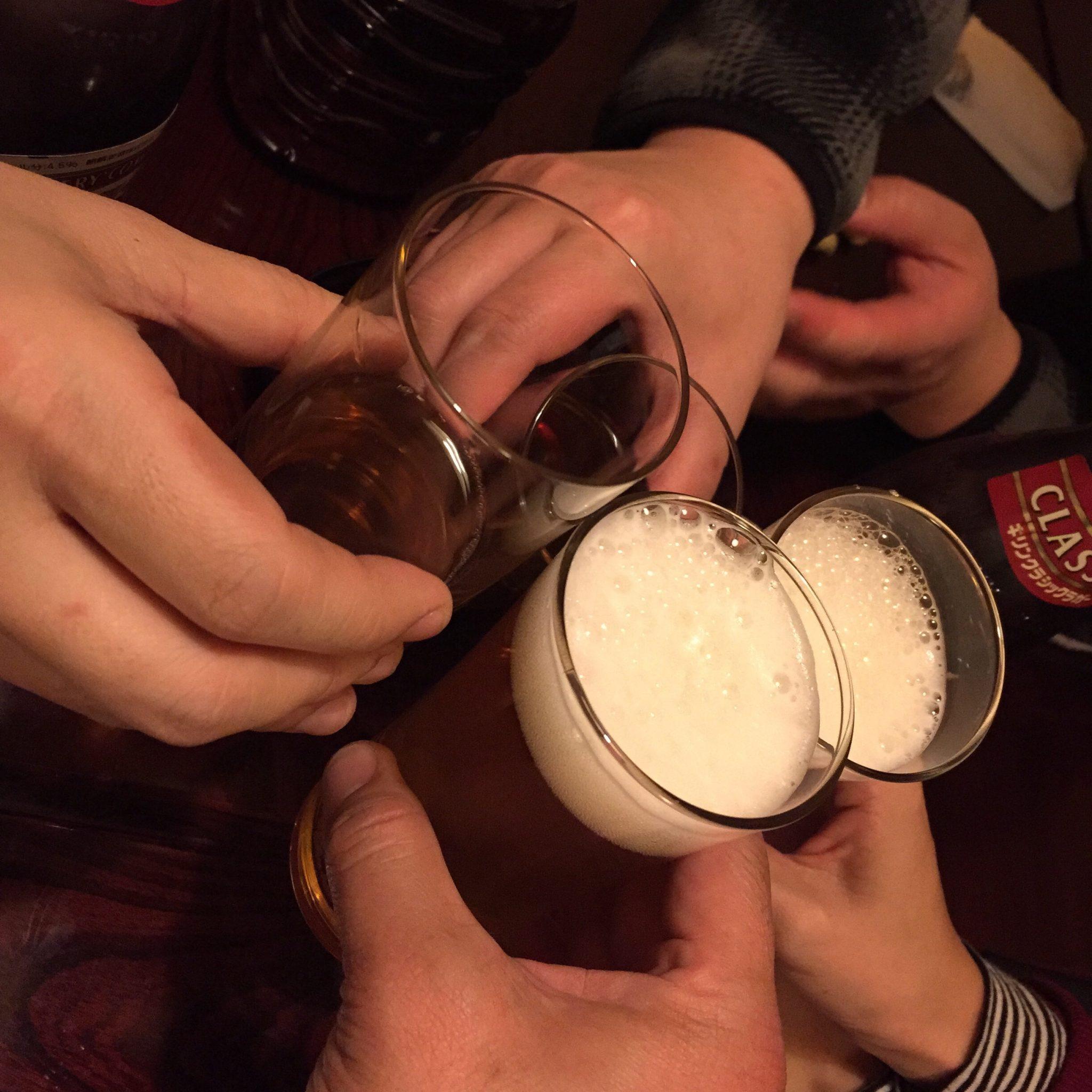 酒処 まつ 乾杯