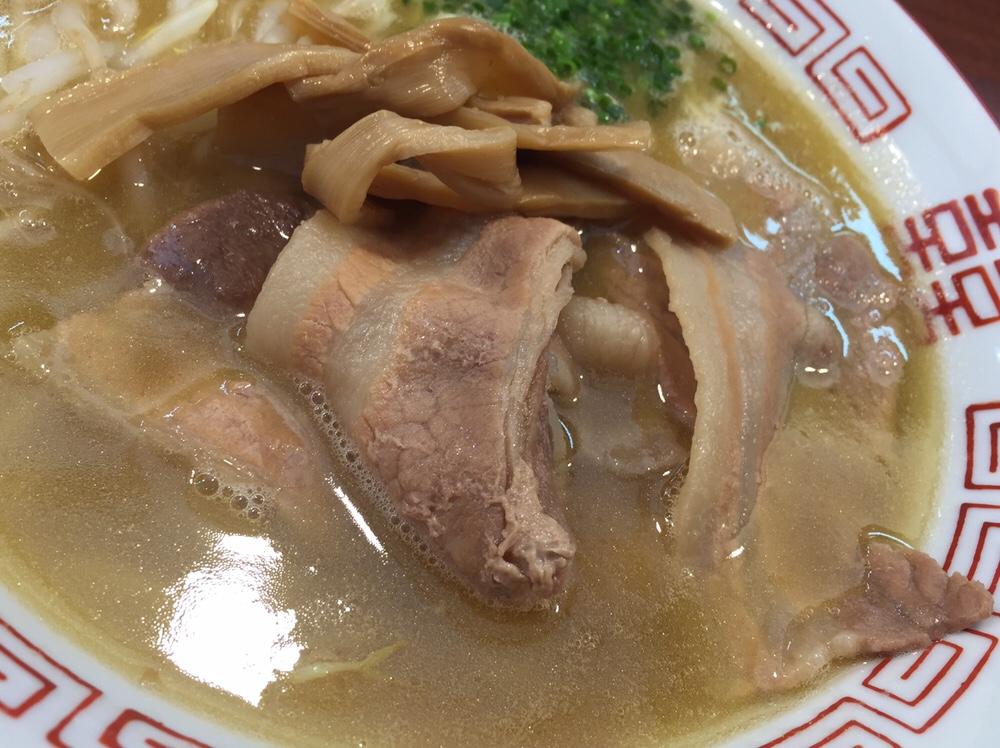 柳麺 多むら 外旭川店 徳島風中華そば ご飯付き 具