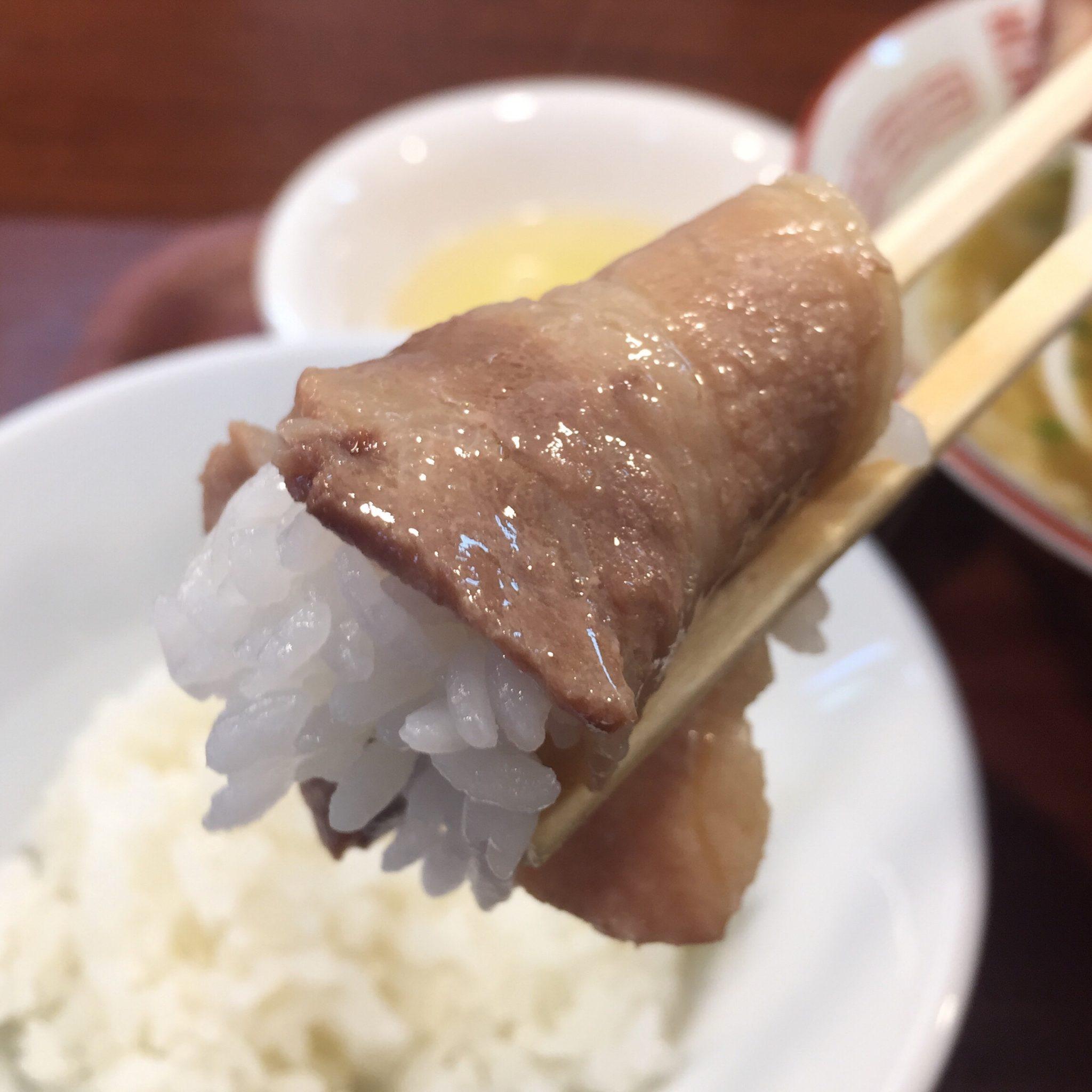 柳麺 多むら 外旭川店 徳島風中華そば ご飯付き 肉巻きご飯