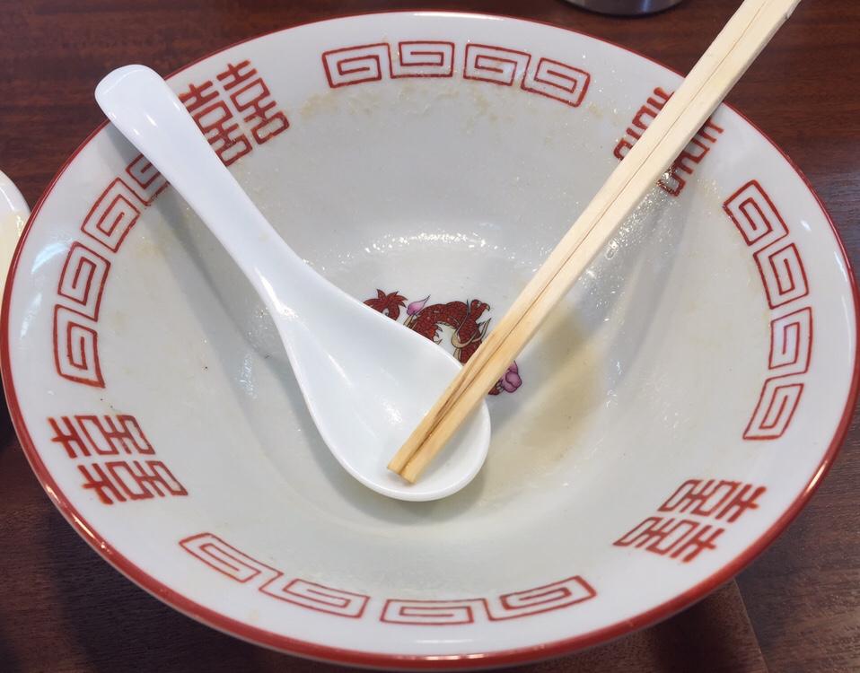 柳麺 多むら 外旭川店 徳島風中華そば ご飯付き 完食