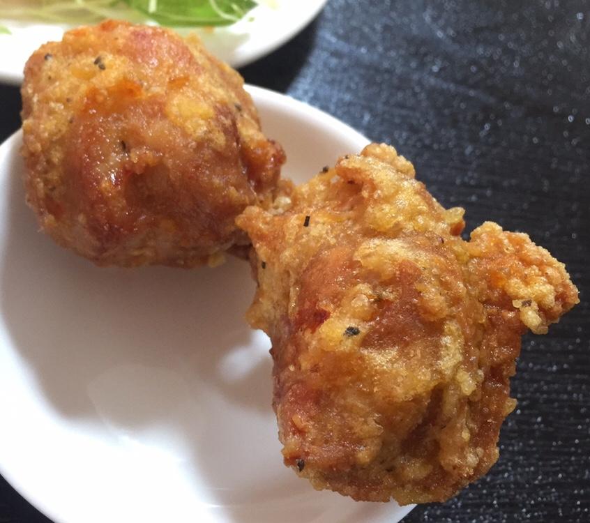 台湾料理 美味鮮 横手店 セット 鶏肉の唐揚げ