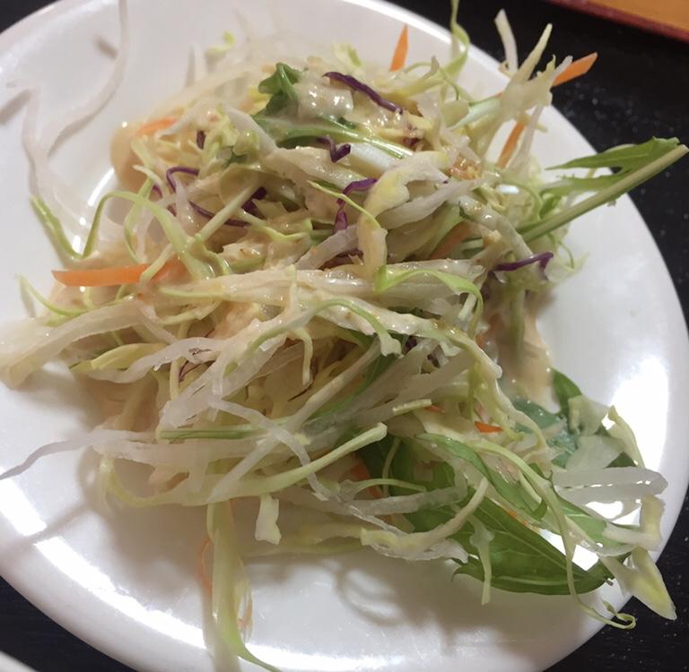 台湾料理 美味鮮 横手店 セット サラダ