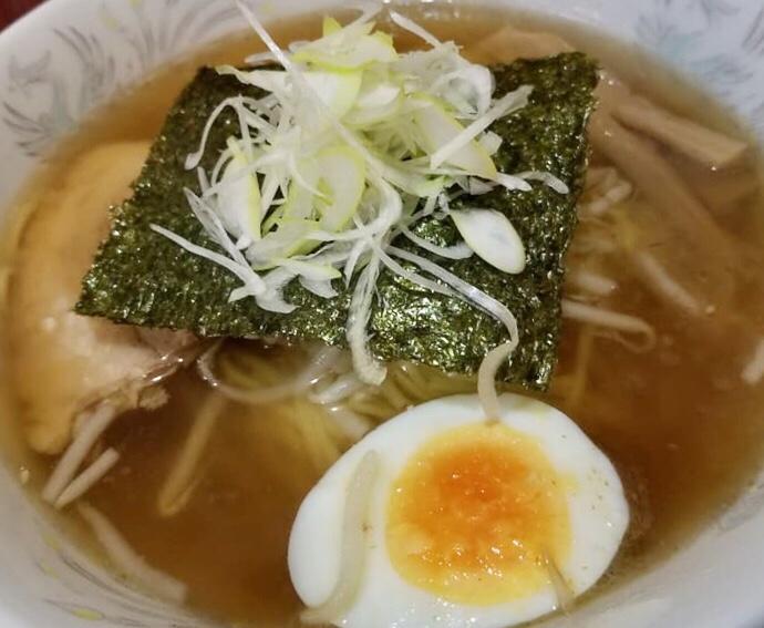 秋田式ラーメン 河南 しょうゆラーメン 醤油ラーメン 具