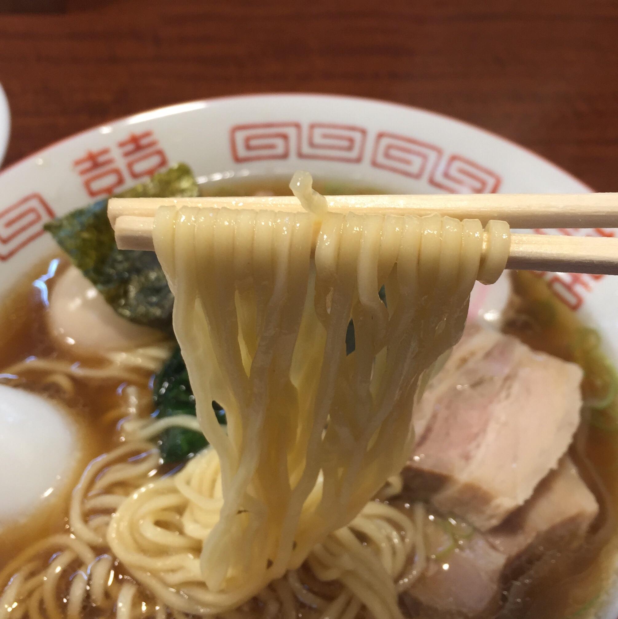 柳麺 多むら 外旭川店 新潟県長岡風生姜醤油らぁ麺 麺