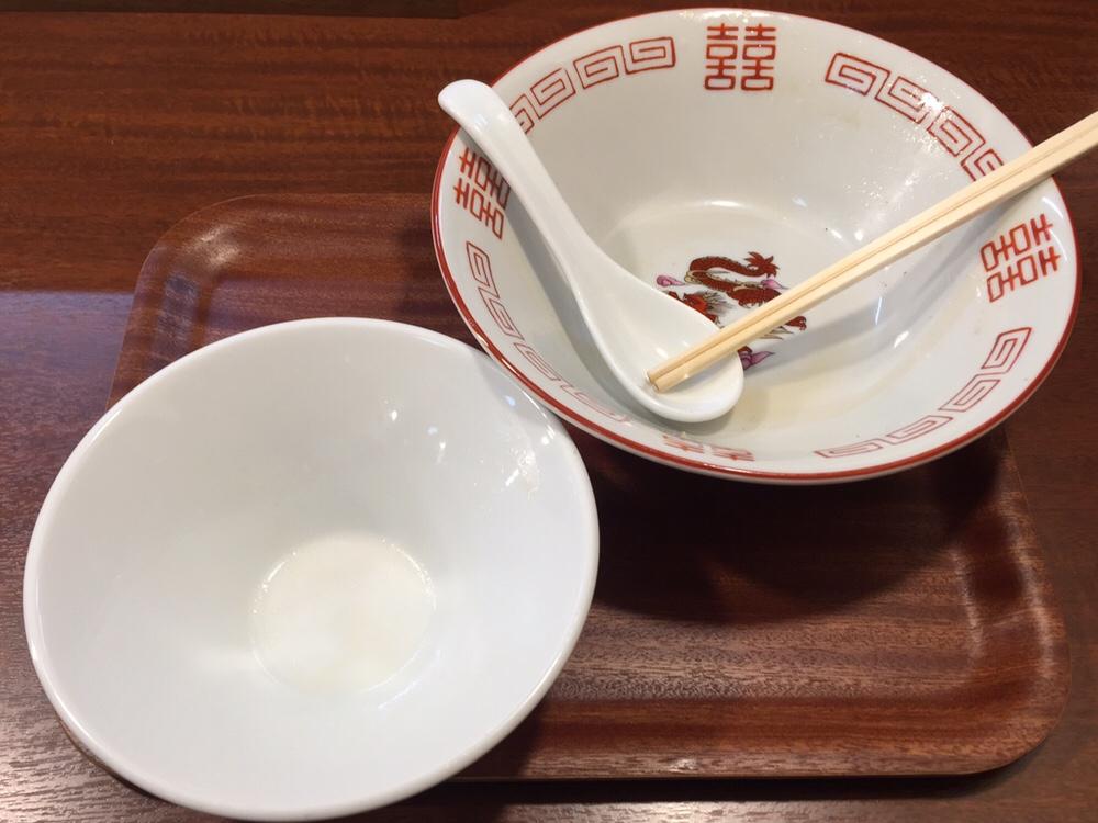 柳麺 多むら 外旭川店 新潟県長岡風生姜醤油らぁ麺 完食