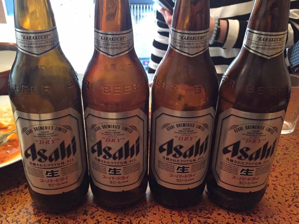 久米食堂 飲み会 ビール