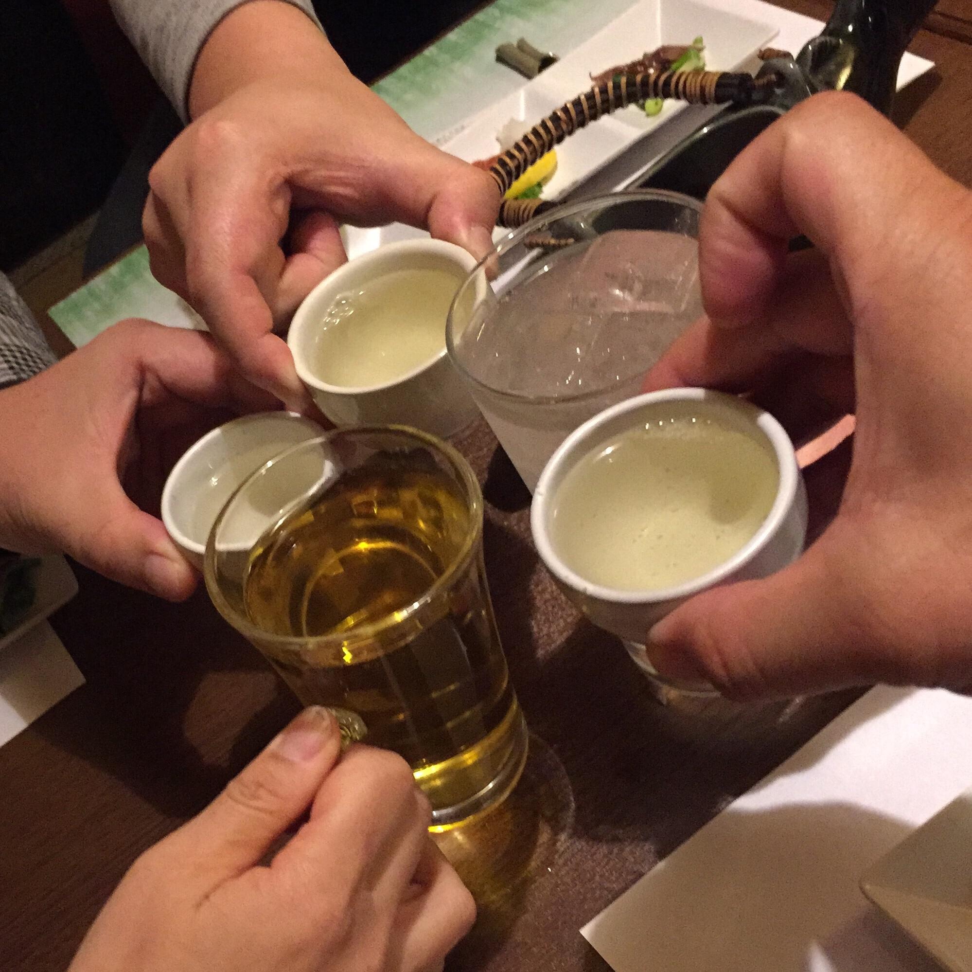 骨酒と地酒 酒讃家 乾杯