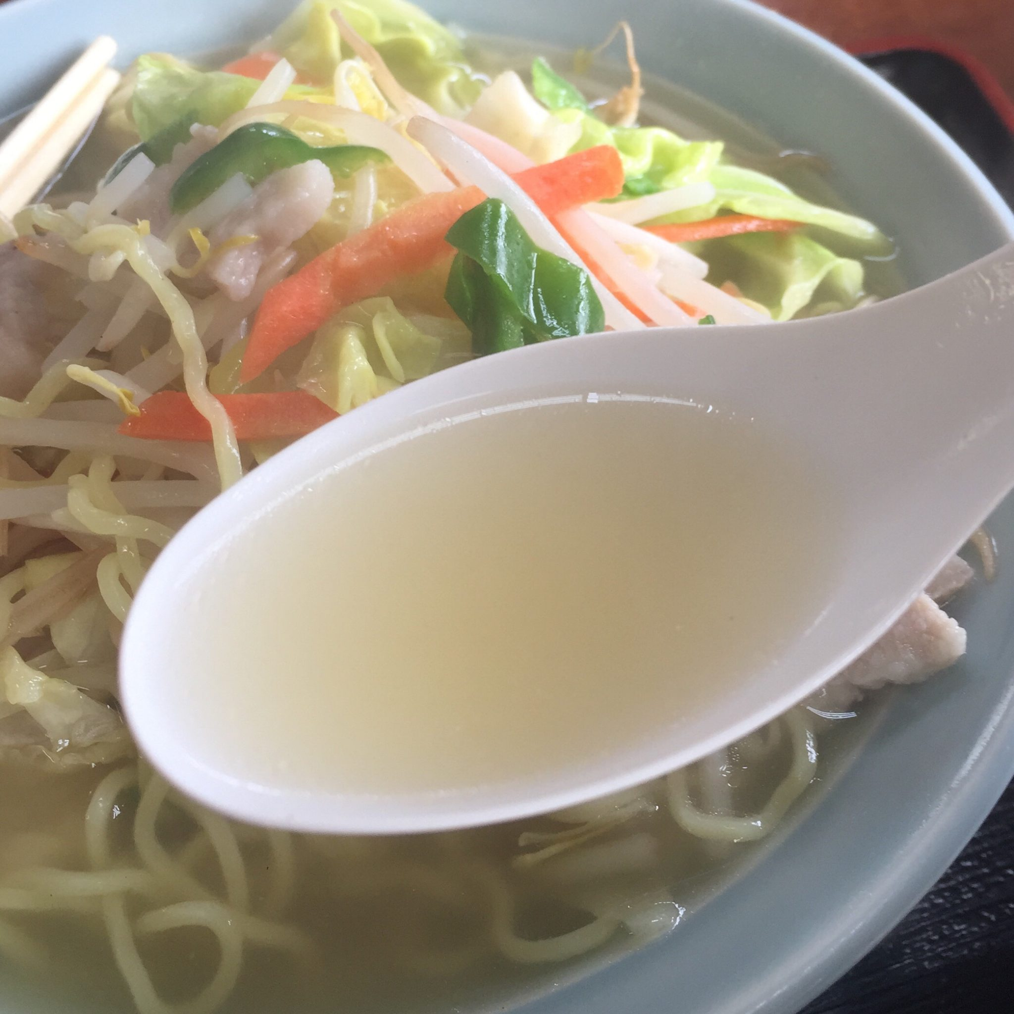 いときん食堂 タンメン スープ