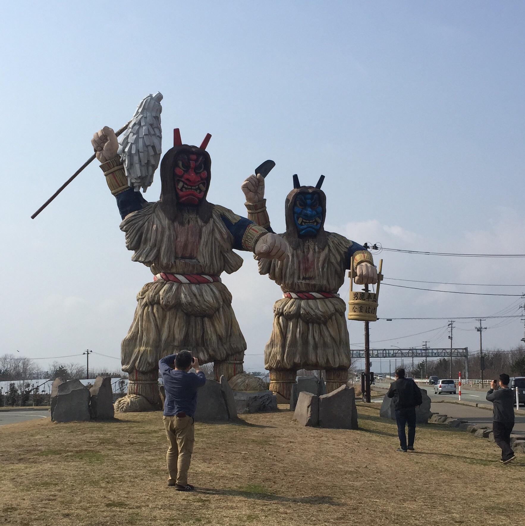秋田県男鹿市 巨大 なまはげ像