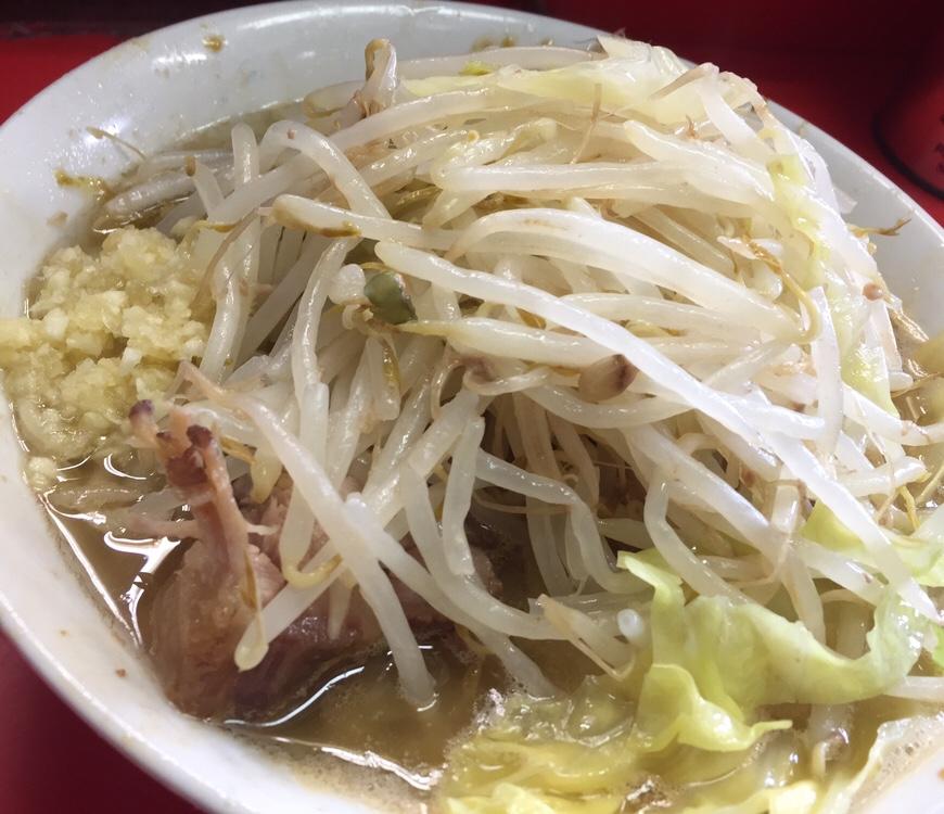 ラーメン二郎 三田本店 ラーメン 小 麺半分 具