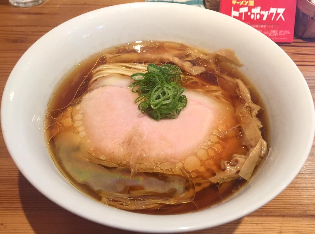 ラーメン屋 トイ・ボックス 醤油ラーメン