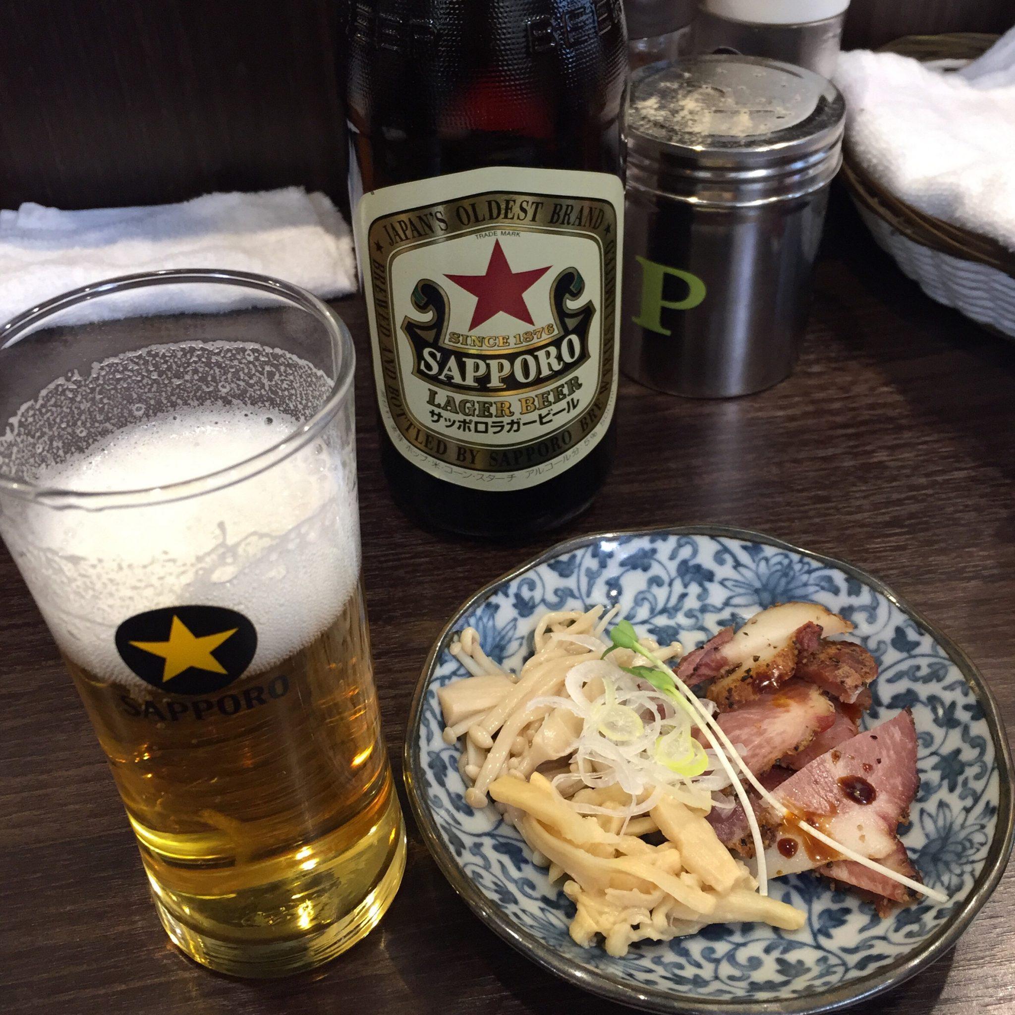 かしわぎ 東中野 赤星 ビール
