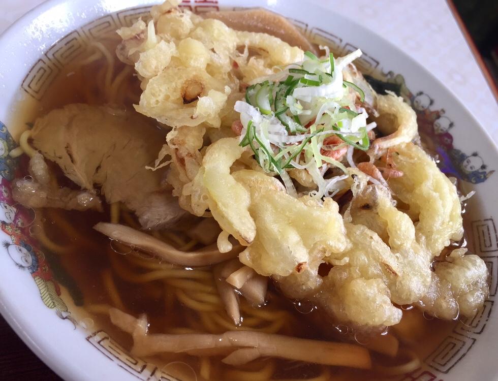 食堂 味よし味二番 天ぷら中華 具