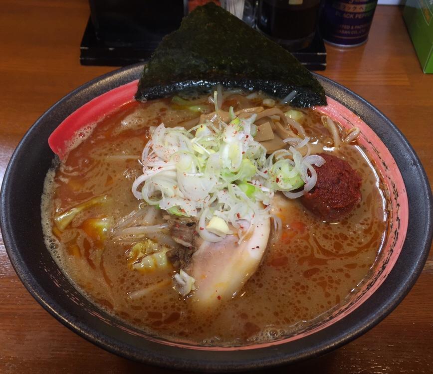 拉麺しな竹 みそラーメン 辛口 味噌ラーメン
